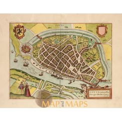 Sluis Town plan Slusa Sluys Jacob van Deventer 1613