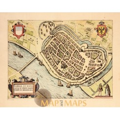 Deventer Antique Town plan Urbis Davetriesis Giucciardini 1613
