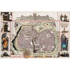 Ierusalem Jerusalem town plan Holy land Stoopendaal 1738