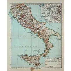 Rom und Alt Italien. Old Map Italy Meyer 1905