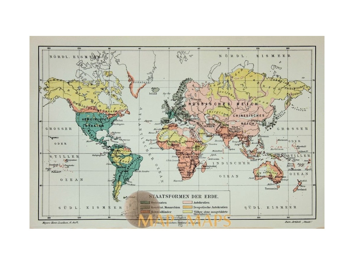 Antique Map Of World.Antique Old Map World Map State Forms Mapandmaps