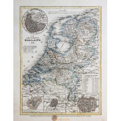 Antique Old Map Kingdom of Holland 1849