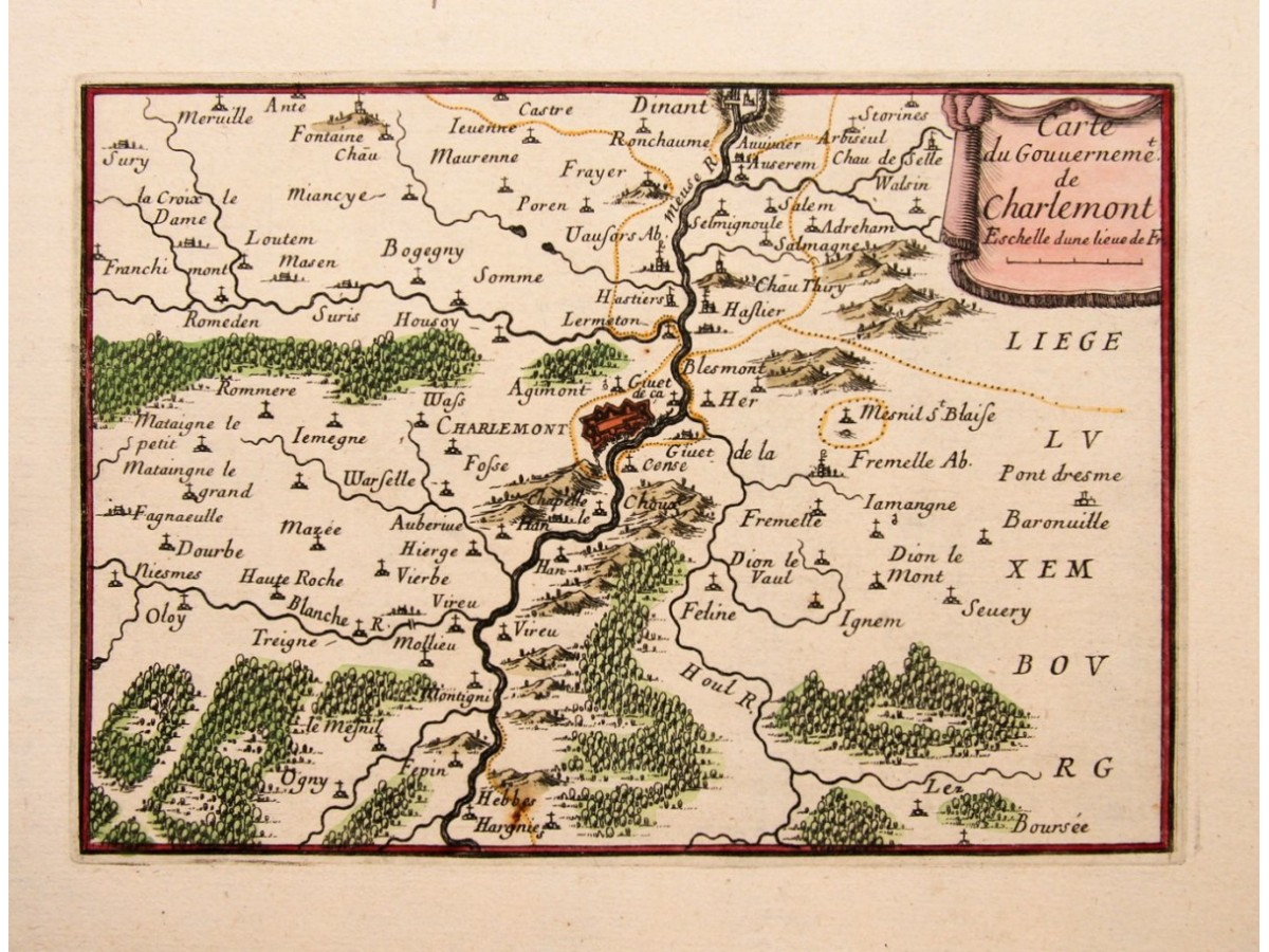 Map Of Northern France Belgium.Avesnes Northern France Old Map By Beaulieu 1688 Mapandmaps