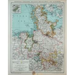 Brussel Bruxelles Belgium Antique map 1892