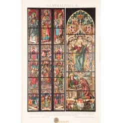 Stained Glass of Cathedrals Aachen & Brugge Meyer 1894