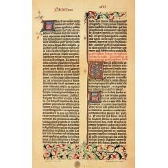 Gutenbergs Bible Facsimile Antique Print 1905