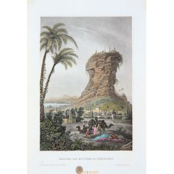 SEMIRAMIS MESOPOTAMIA HANGING GARDENS ANTIQUE PRINT MEYER 1850