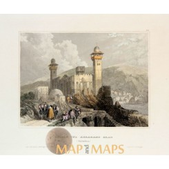 ANTIQUE PRINT, WELLHORN, BERNESE ALPS, SWITZERLAND MEYERS 1850