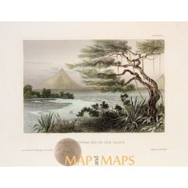 ANTIQUE PRINT NICARAGUA THE MOUTH OF THE RIO DE LAS LAJAS MEYERS 1850