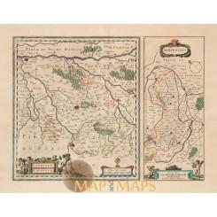Loudun France Loudunois Laudunum map Janssonius 1638