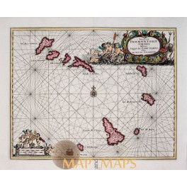 Ancienne Gaule Old map by Allain Manesson Mallet 1683