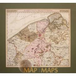 Flandriae comitatus pars septentrionalis old map Vissher 1716.