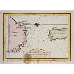 Argentina Le Maire Strait antique map by Bellin 1753