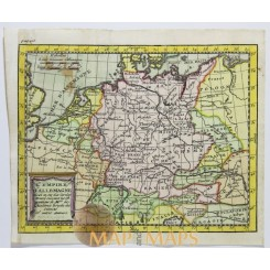 German Empire Antique map by Claude Buffier 1714.