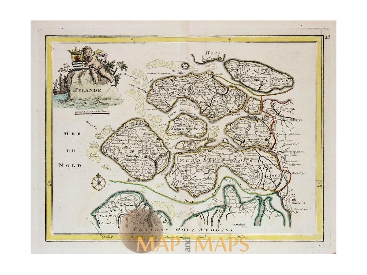 Zeeland Holland Karte.Le Rouge Map Of Holland Zelande 1748 Mapandmaps