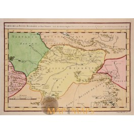 Turkistan Tarlatan China Bukharie et Pays Voisins old antique map by Bellin 1750