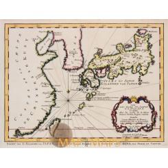 Japan maps Carte des Isles du Japon Bellin 1752
