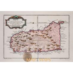 Saint Lucia - L'Isle de Sainte Lucie map Bellin 1759