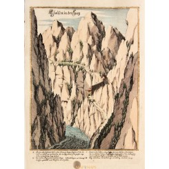 Pass Lueg Antique Print Salzburg Austria 1720