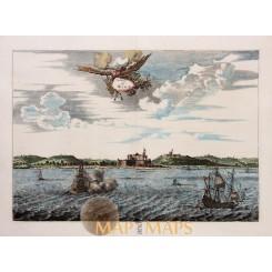 Africa Ghana Fort Elmina & St George Pieter Van der Aa 1728