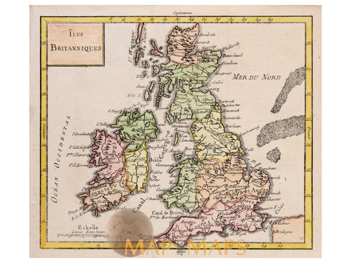 Map Of England Ireland Scotland Wales.England Scotland Wales Ireland Old Map Vaugondy Mapandmaps