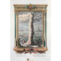 The pillar of cloud and the fire column Bible print Scheuchzer 1731