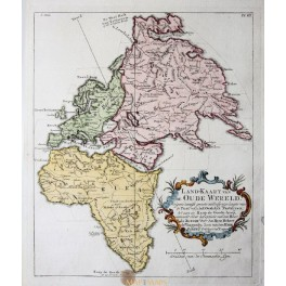 Old World continents Europe Africa Asia by Vaugondy 1749