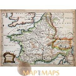 Ancient Gaul Antique Map Western Europe. Cellarius 1752