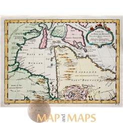 North America map Carte De La Baye De Hudson Bellin 1757