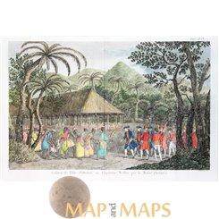 Tahiti Queen Purea Surrender to Capt Wallisi. Hawkesworth 1778