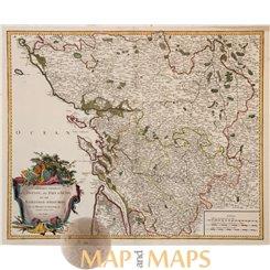 Poitou Aunis Angoumois France map Vaugondy 1753