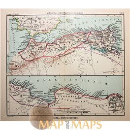 Antique map North Africa, Africa Septentrionalis by Justus Perthes 1893