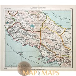 Antique map Middle Italy, Latium Campania, Atlas antiques, by Justus Perthes 1893