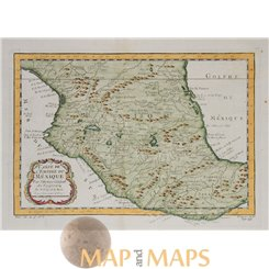 Carte du Mexique Antique map Mexico Bellin 1754