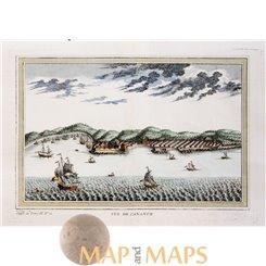 Kannur India, Vue de Cananor by Bellin 1754