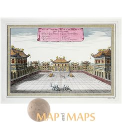 China Forbidden City antique print by Bellin 1754
