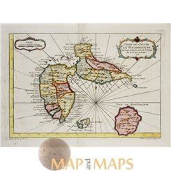 Bellin maps, Carte de l'Isle de la Guadeloupe 1758