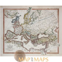 The Roman Empire in Europe Island antique map Spruner 1846