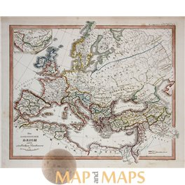 Europe The Roman Empire antique map Spruner 1846