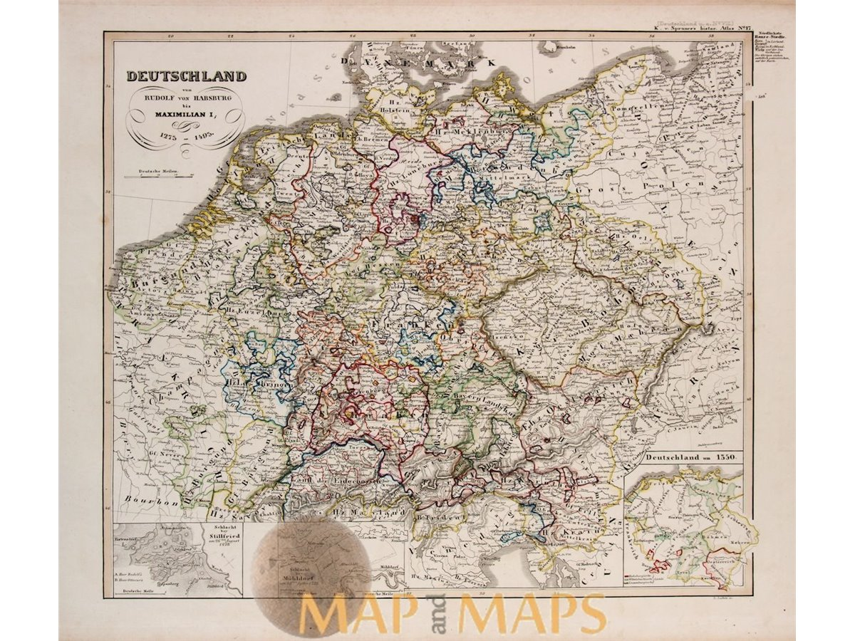 Germany During The Habsburg Empire Spruner Map 1846 Mapandmaps
