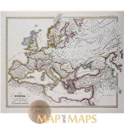 Europa in Anfange des VI Jahrhunderts. Spruner map 1846.