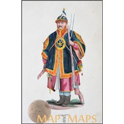 Soldate Cinese Dally Antique print Chinees Soldier 1845