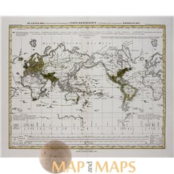 Indo-European and Semitics world map Jus. Perthes 1852