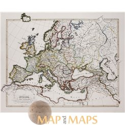 Europe in the 16th century Old map Karl Spruner 1846