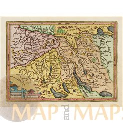 Zurichou Zurich Switzerland Mercator/Hondius Atlas Minor 1607