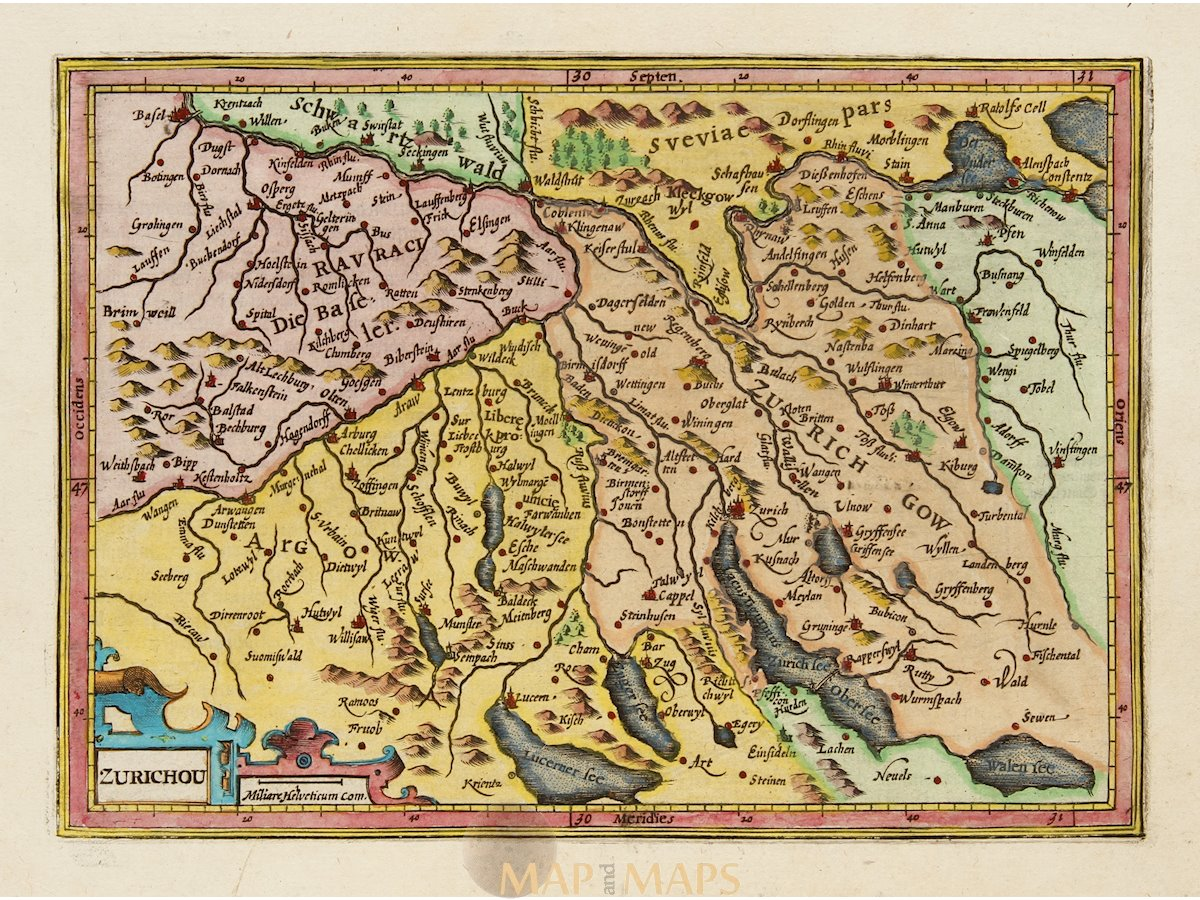 Zurichou Zurich Switzerland Mercator/Hondius Atlas Minor 1607 on europe map, montreux switzerland map, rhine river map, austria map, madrid spain map, zermatt village map, edinburgh scotland map, zurich google map, basel switzerland map, bern switzerland map, zurich language, geneva map, zurich world map, switzerland on a map, seoul korea map, barcelona map, pfaffikon switzerland map, brugg switzerland map, paris switzerland map, france map,