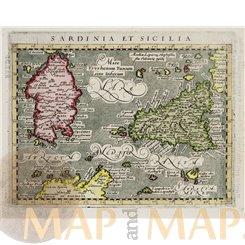 Sardinia et Sicilia. Geographiae Universaetum Magini 1597