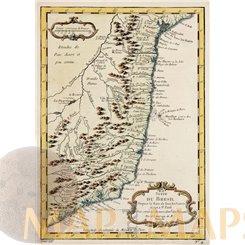 BRAZIL, SUITE DU BRESIL, SALVADOR, ANTIQUE MAP BELLIN 1759