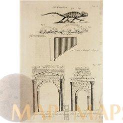 Triumphal Arch Latachia Syria old print Drummond 1754