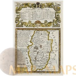 England Nottinghamshire Antique Road Map Bowen 1761